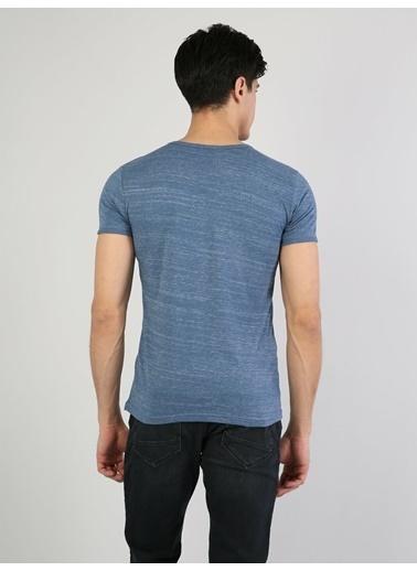 Colin's Desenli T-Shirt Mavi